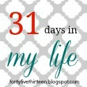 31 days blog button