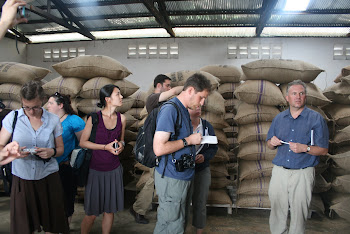'Cocoa bean storage at Kuapa Kokoo Cocoa farm outside of Kumasi' Photo by Sandra Vu