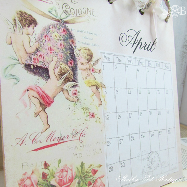 Shabby Art Boutique desk calendar 2