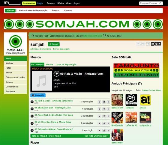 myspace somjah seleção bandas tamojunto
