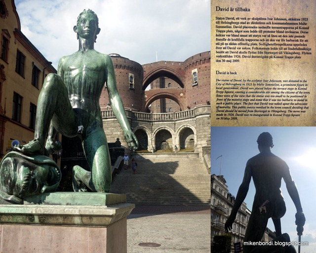 Helsingborg statue of David