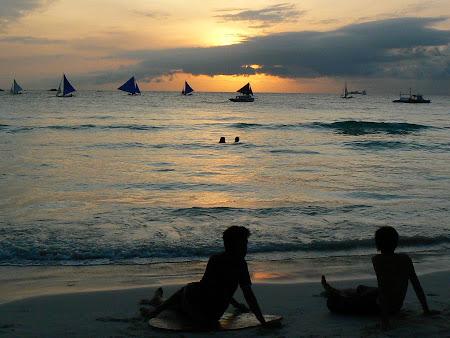 Apus de soare la Boracay