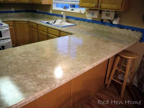 Countertop Paint Red : You can kinda-sorta see a lighter ?flow? in the bottom left corner ...