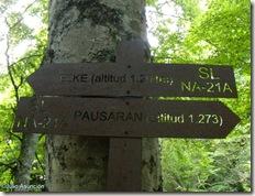 Poste indicador Elke-Pausaran - Valle de Arce