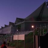 Футбольна арена, якраз проходив якийсь матч...