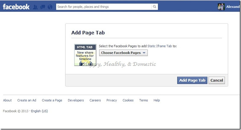 4 Custom FB app tabs install woobox add page tab