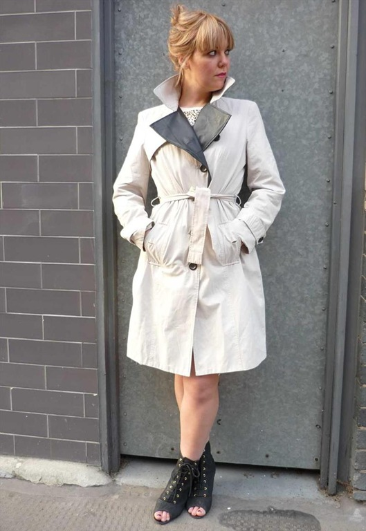 Customised Trench Coat with Leather Collar, £85, Phoenix Rising