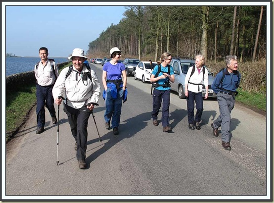 Starting off from the layby beside Ridgegate Reservoir