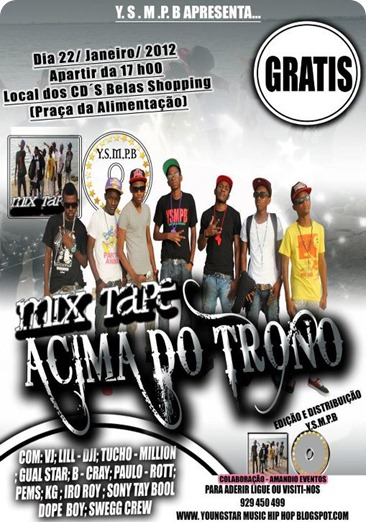 Mixtape Acima do Trono Dia 17 No Belas Shopping