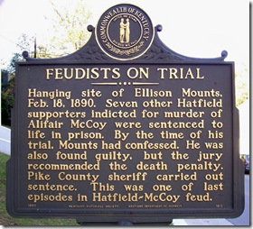 Feudists On Trial marker in Pikeville, KY on campus of Pikeville College