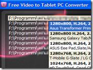 Convertire video in formato e risoluzione ottimizzata per i Tablet Android