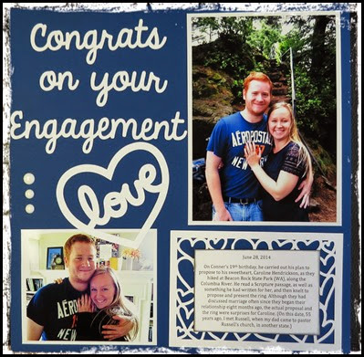 Engagement Congrats Layout