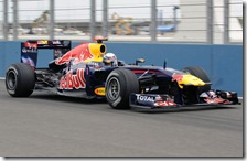 Vettel nelle qualifiche del gran premio d'Europa 2011