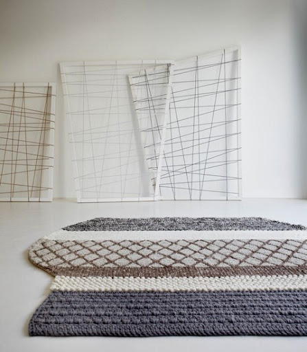 Keep coziness underfoot with these gorgeous knit rugs. [via thelateststory]