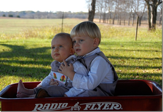 T and J in wagon 1