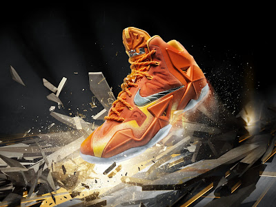 Nike LeBron 11 Atomic Orange Silver
