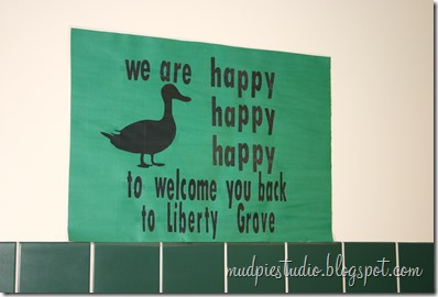 Camping theme bulletin board - happy happy happy