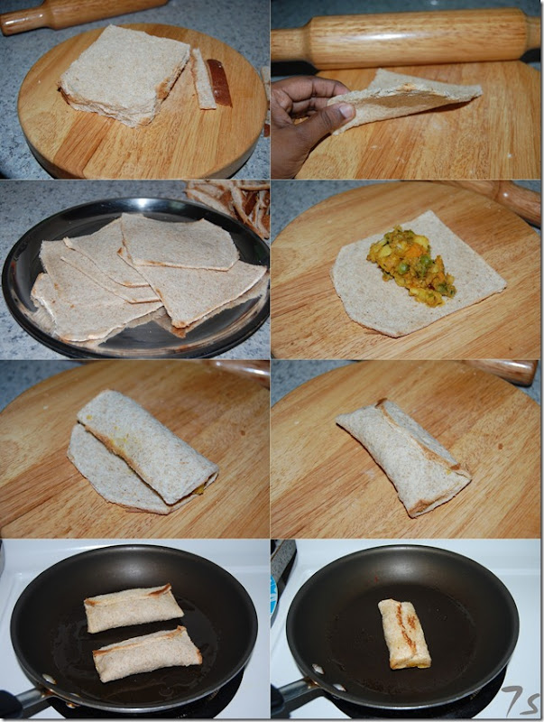 Vegetable bread roll process