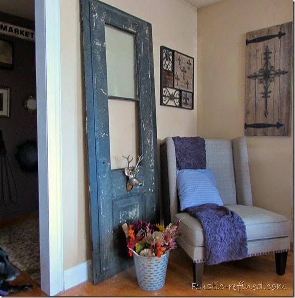 Living room molding antique door update rustic refined for B q living room doors