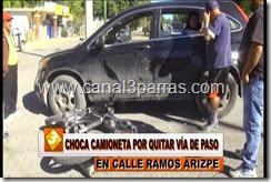 IMAG. CHOCA CAMIONETA POR QUITAR VIA DE PASO EN RAMOS ARIZPE.mp4_000037203
