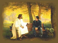 Jesus com Jovem conversando