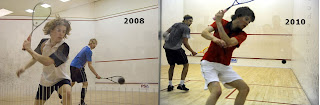 Leclair vs Newnham at the Rochester ProAm  2008 - Newnham bt. Leclair 15-13, 15-13, 11-2 2010 - Leclair bt. Newnham 6-11, 9-11, 11-6, 11-3, 9-6 ret,