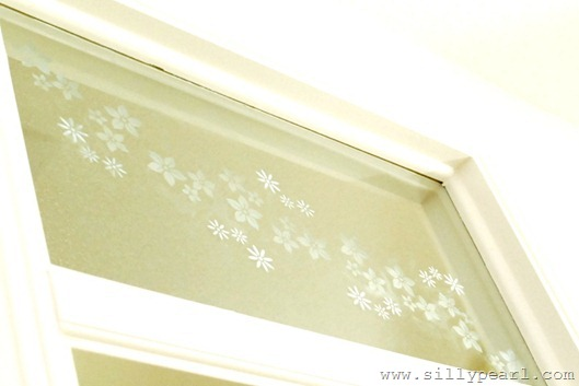 Faux Etched Glass Window by The Silly Pearl
