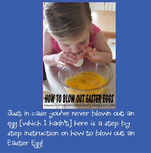 how to blow out an easter egg