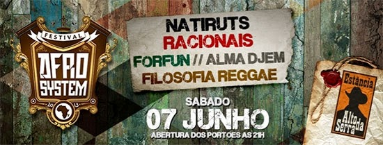 Festival Afro System acontece sábado, dia 07, na Estância Alto da Serra