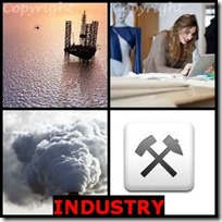 INDUSTRY- 4 Pics 1 Word Answers 3 Letters