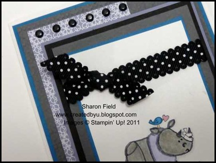 Createdbyu_blogspot, kidoodles, stamps, stampin up, ribbon, brads, sharon_field, get_well, card