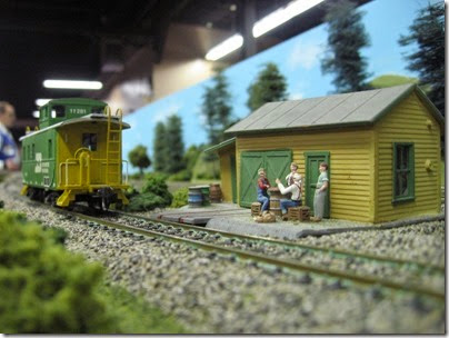 IMG_5453 Burlington Northern Caboose #11281 on the caboose track on the LK&R HO-Scale Layout at the WGH Show in Portland, OR on February 17, 2007