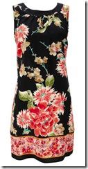 Oriental Flower Print Dress