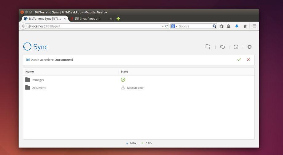 BitTorrent Sync in Ubuntu