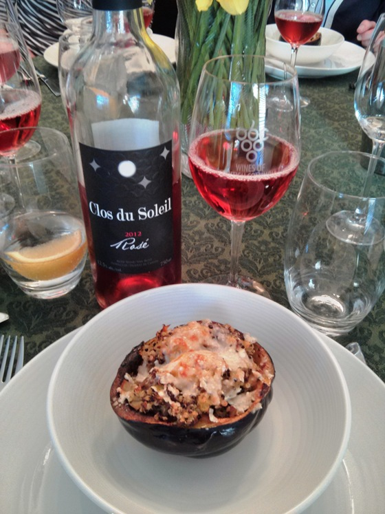 Clos du Soleil Rose & Stuffed Acorn Squash