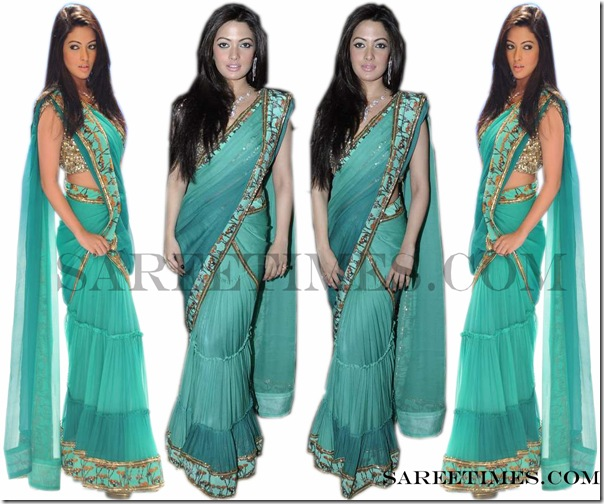 Ria_Sen_Blue_Designer_Saree