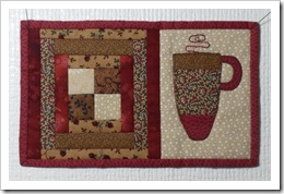 Buddette Mug Rug 4 Rosemary 2012 Red