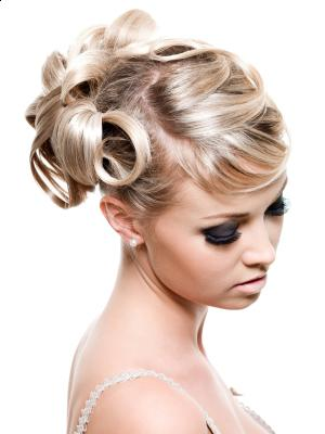 Elegant Short Wedding Day Hairstyles