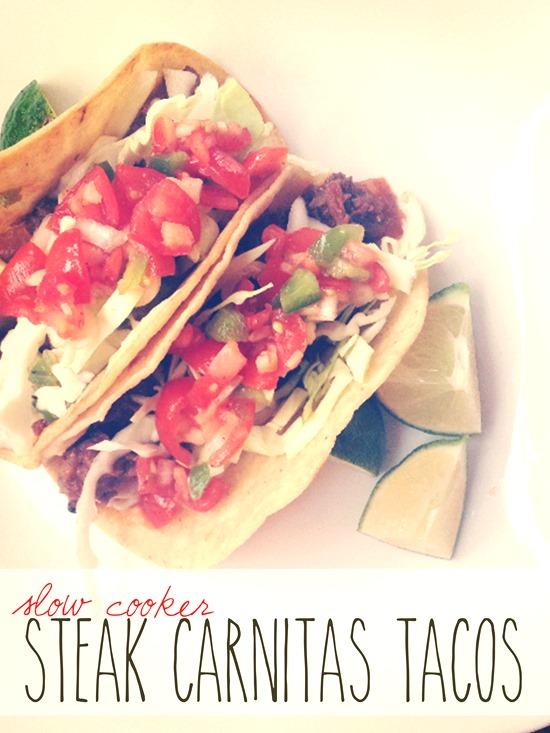 Slow Cooker Steak Carnitas Tacos