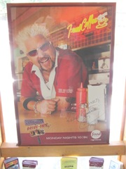 11.2011 Maine diner Guy Fieri sign