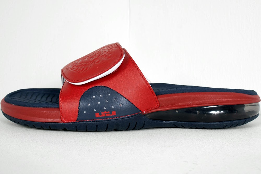 ... Detailed Look at Nike Air LeBron Slide in Olympic Colorway ...