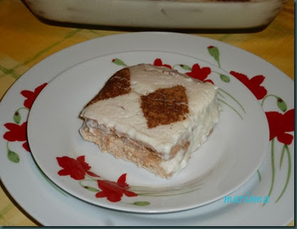 tarta de galletas y cuajada a la canela,racion copia