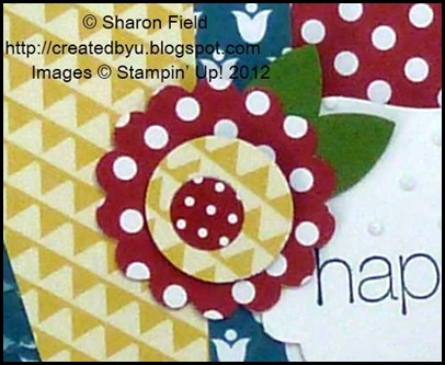 mary englebreit inspired blossom on colorful happy card