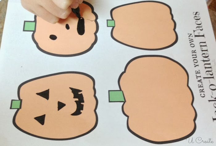 Draw Your Own Jackolantern Faces - free printable