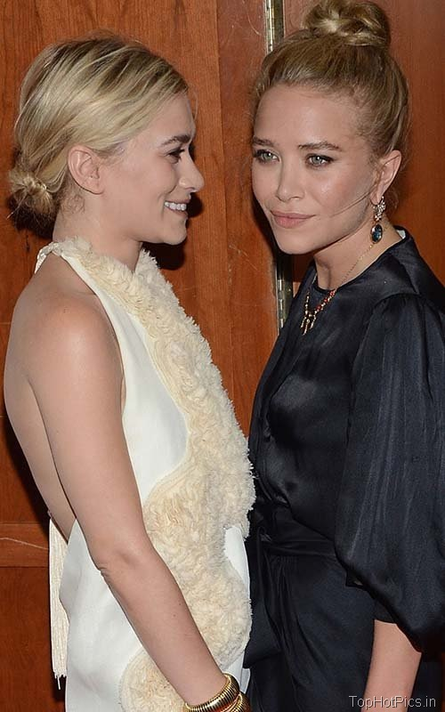 Hot Olsen Sisters in Backless Dress Pics 9