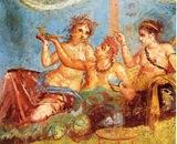 Casa de los Castos Amantes - Banquete - Pompeya