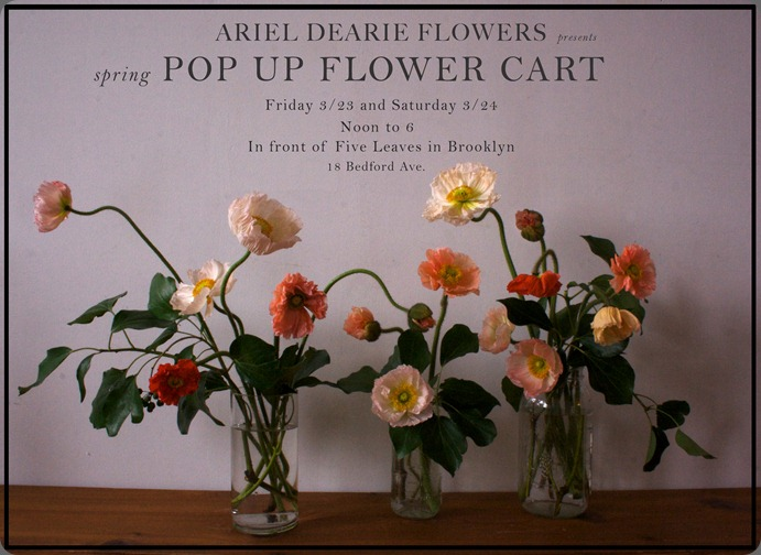 pop up Flower Cart