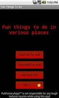 Screenshot of Fun Things To Do