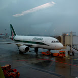 taking Alitalia to Amsterdam in Milan, Milano, Italy