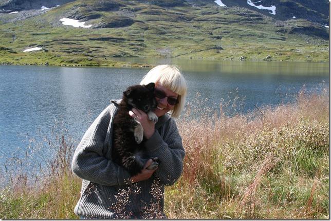 Frøya og meg på Haukeli